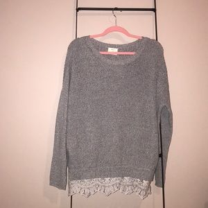 Urban Outfitters Lace Trim Pins & Needles Sweater